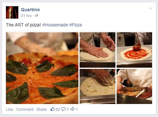Quartino Facebook Post