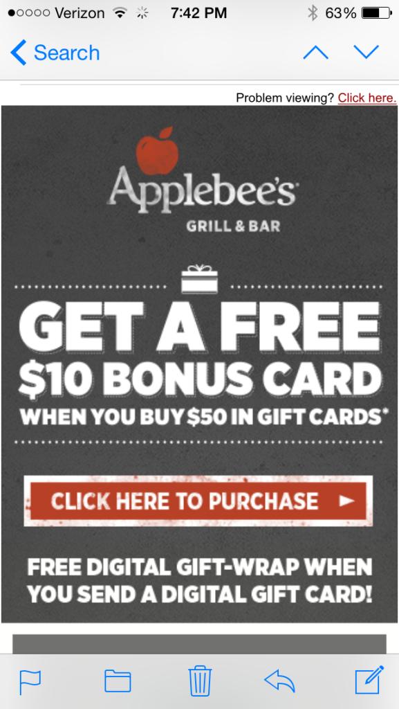 Applebee's Email