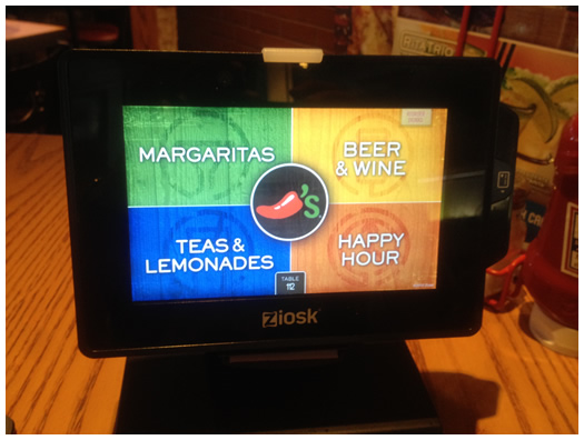 Ziosk Tablet at Chilis