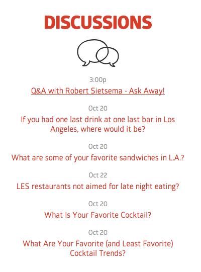 Eater.com Forums