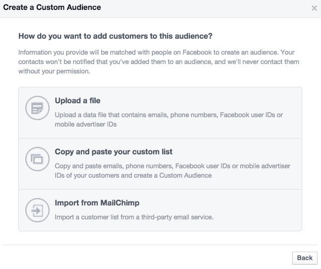 Facebook Custom Audience 2