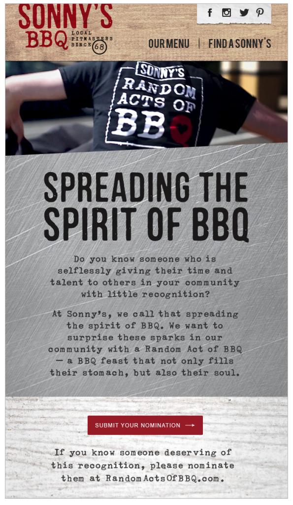 Sonnys BBQ Email