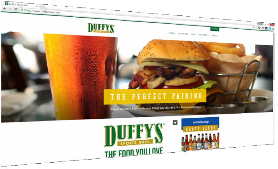 Duffys MVP Restaurant Website