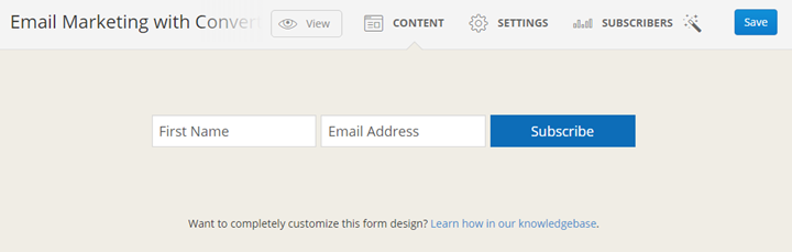 ConvertKit Email Form