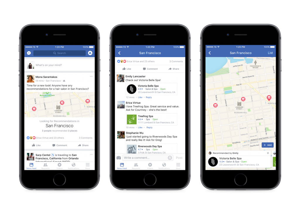 Facebook Restaurant Ordering