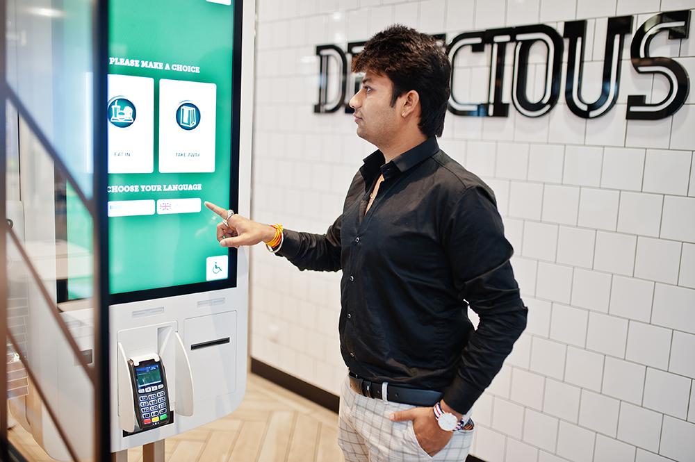 restaurant self-order kiosk